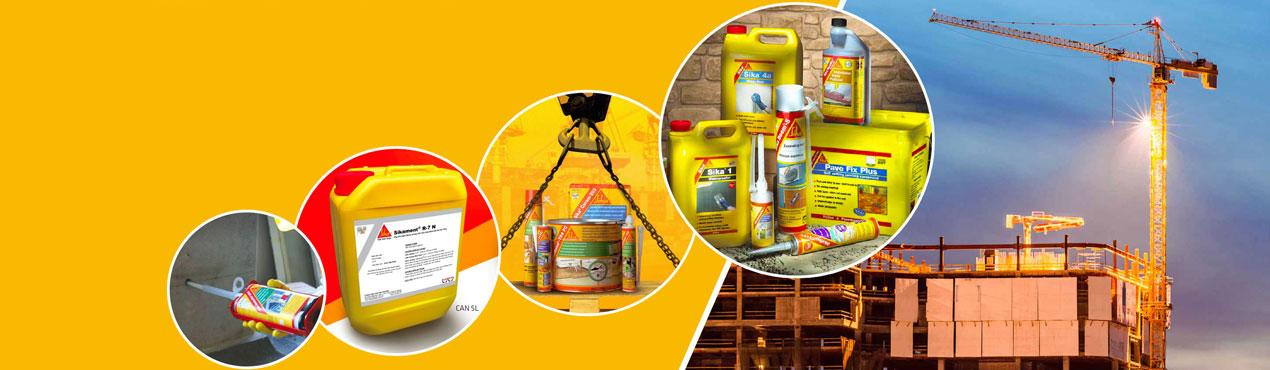 Sika Chuyên kinh doanh các sản phẩm phụ gia bê tông, chống thấm trong xây dựn
